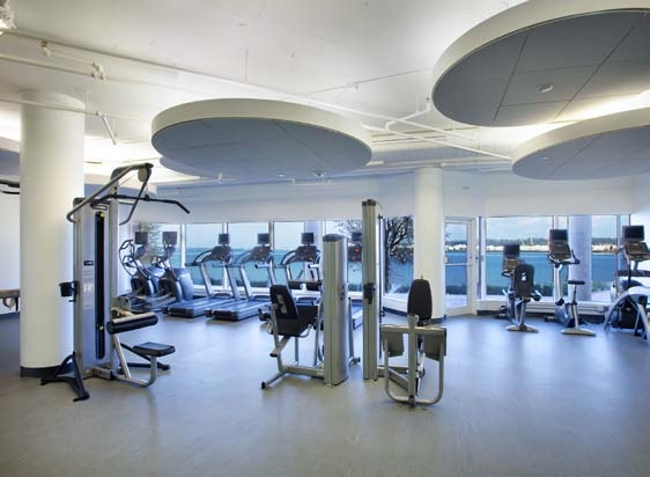 State-of-the-art fitness facility with sweeping views of Washington, DC and the Potomac River